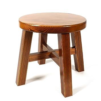 Amazon.com: Taburete de salón/madera maciza taburete pequeño ...