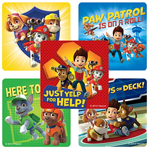 SmileMakers PAW Patrol Stickers - Birthday and Theme Party Supplies - 100 Per Pack -