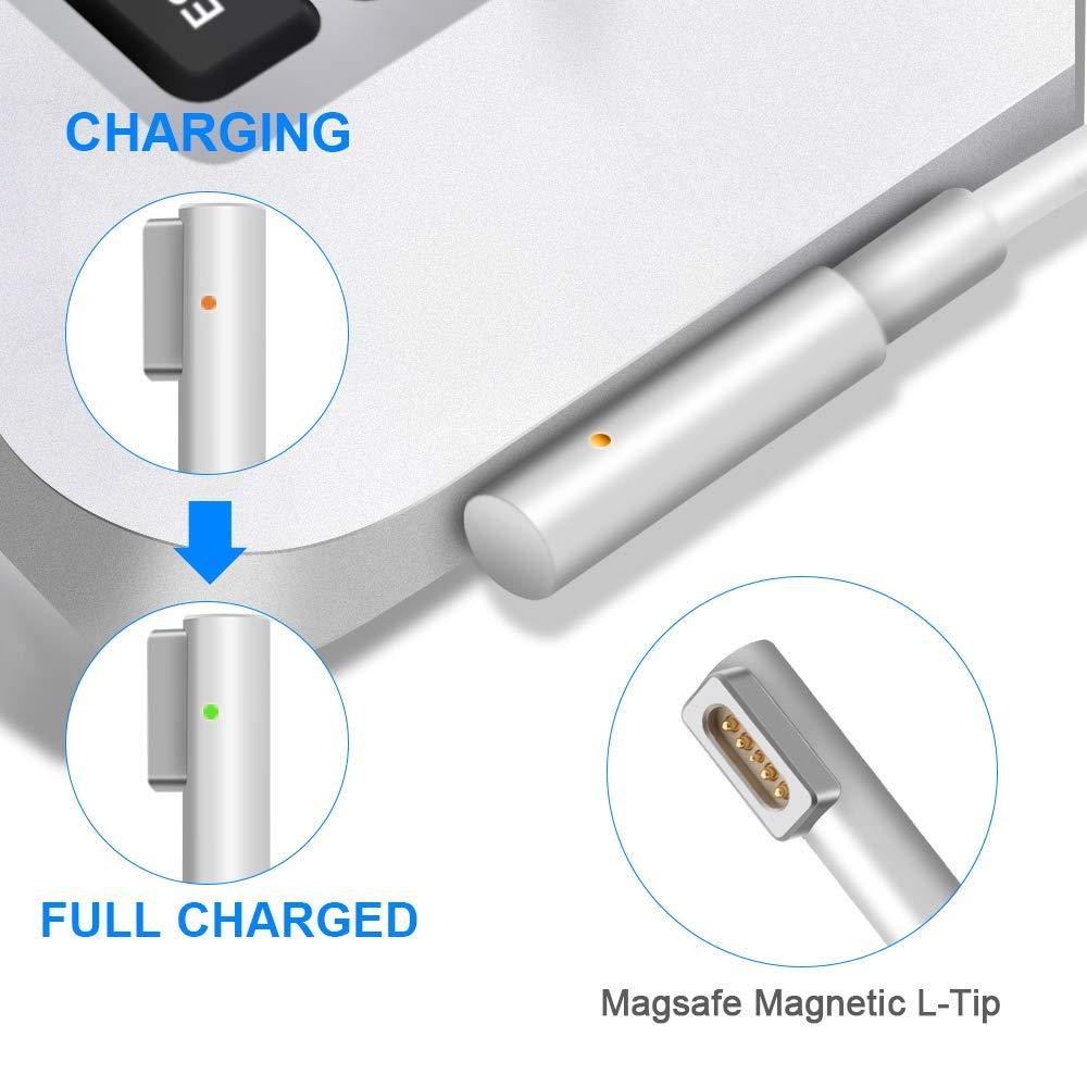 BETIONE Cargador MacBook Pro, Cargador Mac Pro, Cargador Mac Book Air 60W MagSafe 1 Forma de L Adaptador de Corriente (para MacBooks 11