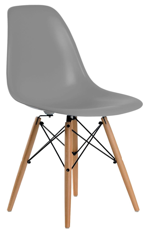 Aryana Home Eames Replik – Set Stühle, 51 x 46,5 x 81,5 cm 51x46.5x81.5 cm dunkelgrau