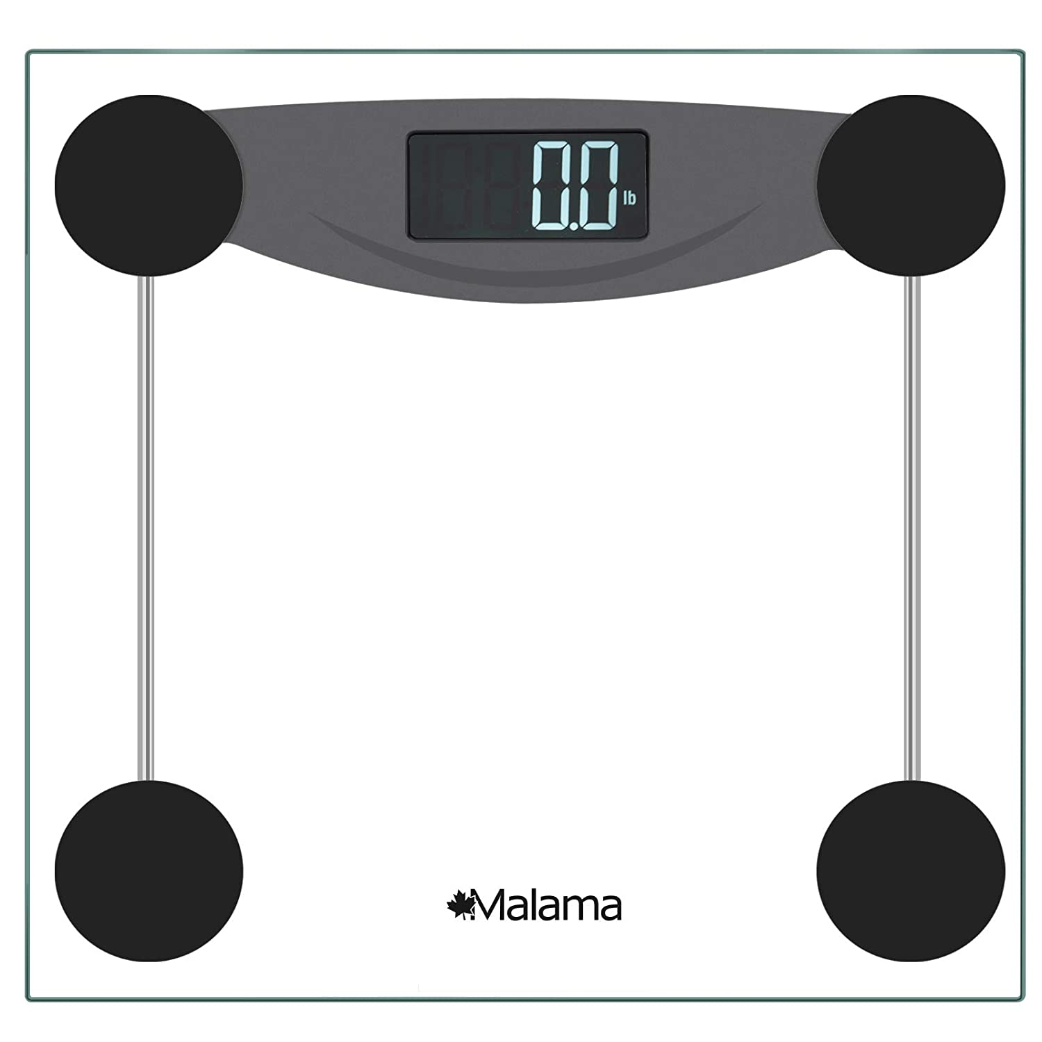 Amazon com malama precision digital body weight bathroom scale with step on technology lcd backlit display 400 lbs capacity and accurate weight