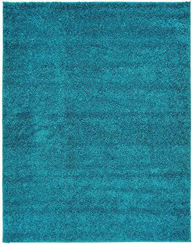 (Shaggy Collection Solid Color Shag Area Rugs (Turquoise, 3'3