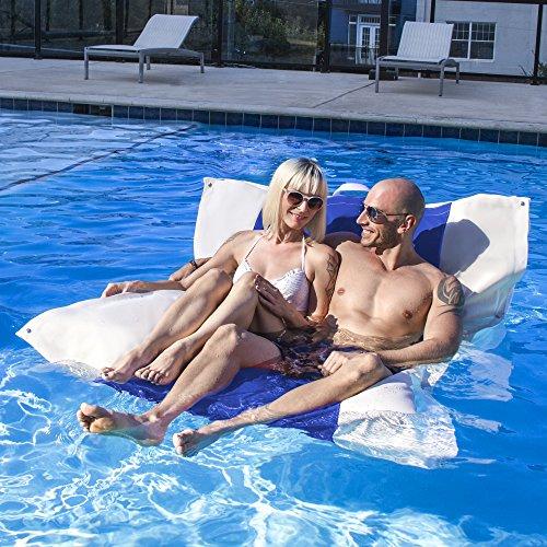 Jaxx Sweetwater Pool Float Loveseat, Pacific Blue