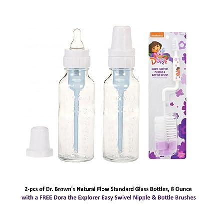 Brown/'s Natural Flow Bottles Pink 2 ea Dr