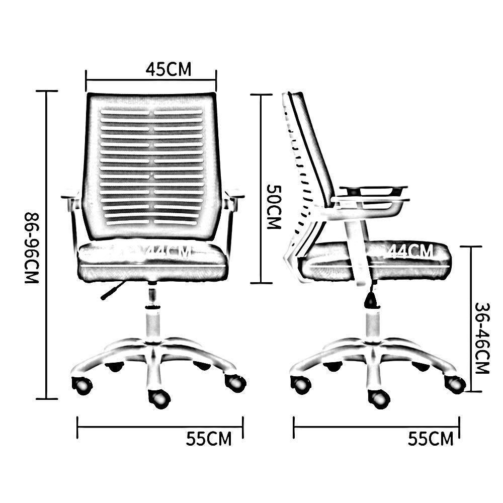JIEER-C stol svängbar stol datorstol, hushåll konferens kontorsstol lyft svängbar stol personal lärande nätsäte ergonomi ryggstöd stol uppskattad lastkapacitet: 199 kg, grön Svart