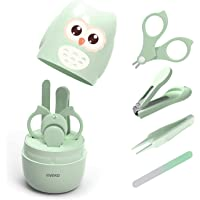 YIVEKO Baby Nail Kit, 4-in-1 Baby Nail Care Set with Cute Case, Baby Nail Clipper, Scissor, Nail File & Tweezer, Baby…