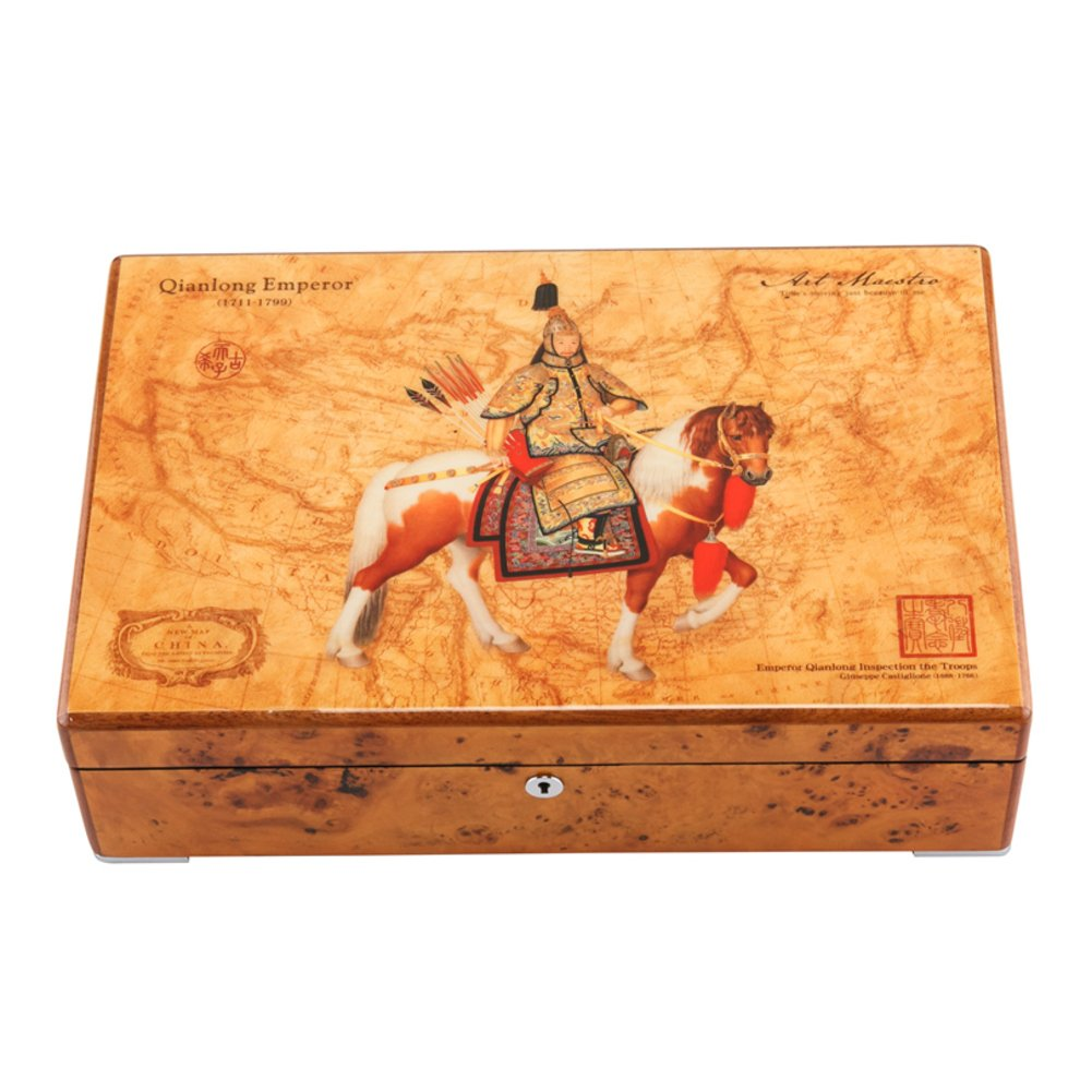 TRE Piano paint quality wood watch box/ mechanical watch storage box collection/jewelry box with lock/ business gift-A