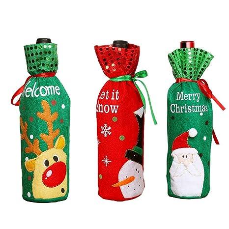 ACMEDE - Bolsa para Botellas de Vino, diseño de Papá Noel ...