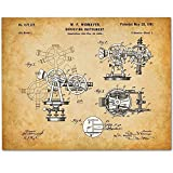 Surveying Instrument - 11x14 Unframed Patent Print - Great Gift for Surveyors, Contractors or Architects