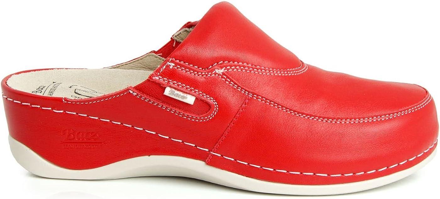 Batz FC10 Leather Womens Ladies Slip-on Clogs