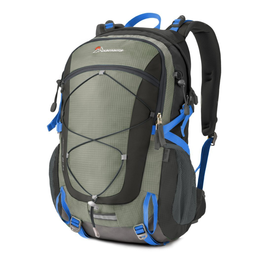Mountaintop 40 Liter Unisex Hiking/Camping Backpack (Gray1)