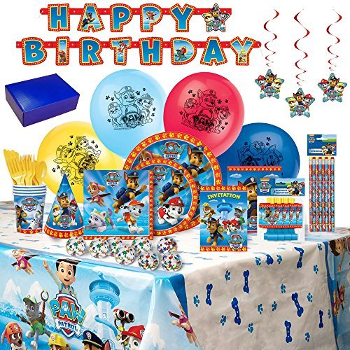 Paw Patrol Birthday Party Supplies and Decorations -