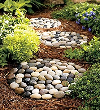 River Rock Stepping Stones, Set Of 3