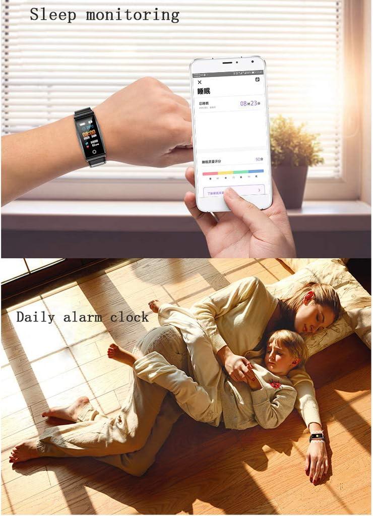 smart watch Braccialetto Intelligente in Metallo, Cinturino in Silicone A Colori, Cardiofrequenzimetro, Orologio Sportivo Autoscatto, Promemoria Informazioni Chiamate Rose Gold