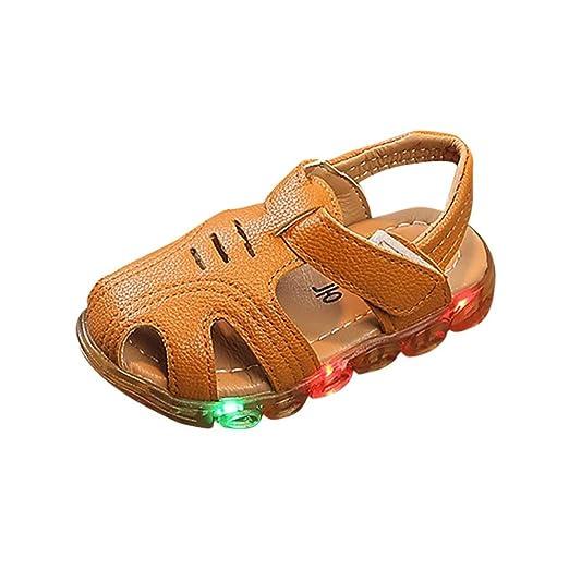 Sandalias para 1-6 Años Xinantime Niño zapatos de verano con luces intermitentes sandalias Zapatos