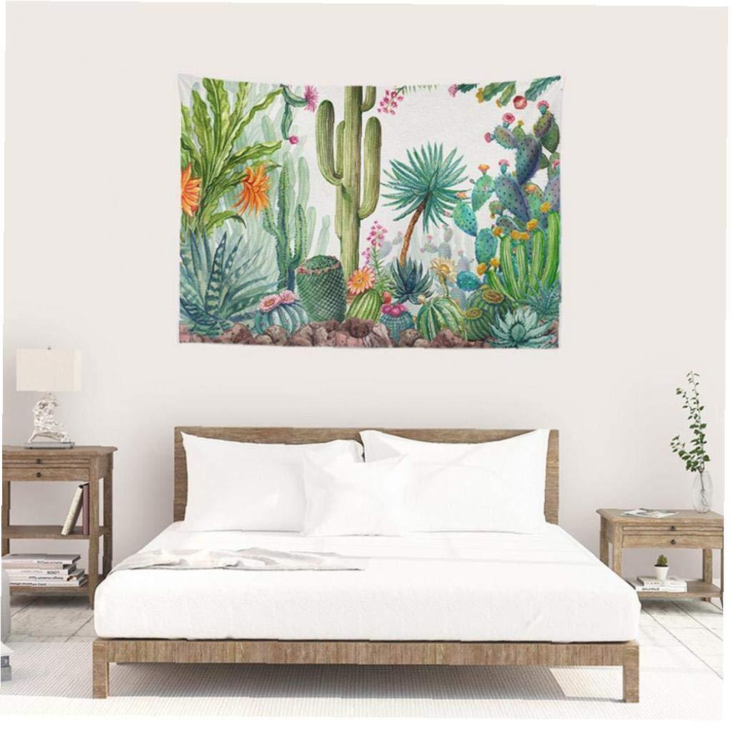 fedsjuihyg Cactus Suculentas Tapiz Tapiz Colgar de la Pared de la decoraci/ón Conveniente para la Sala de Estar Dormitorio Dormitorio Decoraci/ón