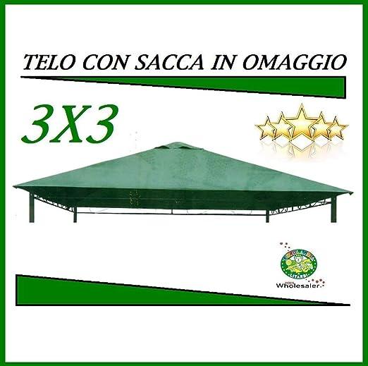 10060 Telo Impermeabile Per Gazebo 3x3 Verde Marcato Eurolandia