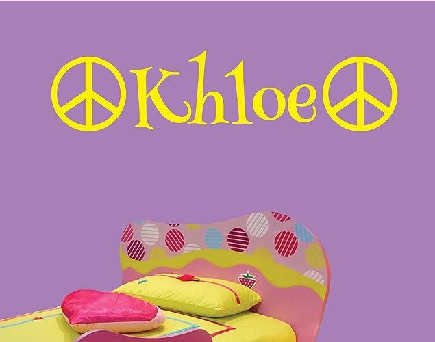 Amazon.com: Khloe-Peace-Wall-Decal-Personalized-Room-Wall-Art-Custom ...