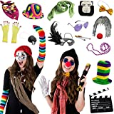 Photo Booth Props - Photo Booths for Parties - 18 Pc. Assorted Photo Booth Kit by Funny Party Hats