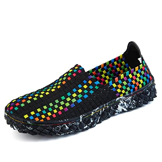 Women's Summer Lightweight Breathable Woven Braided Shoes Water Shoes