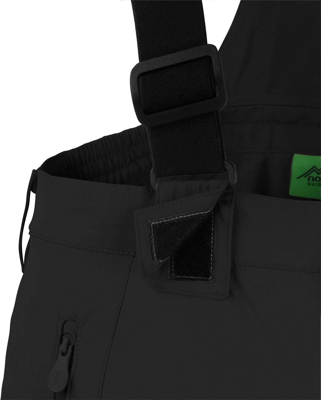 Normani Outdoor Sports Herren Winter Softshellhose gefüttert mit Abnehmbaren 4-Wege-Funktionsstretch Hosenträgern und 4-Wege-Funktionsstretch Abnehmbaren [S-4XL] cfa062