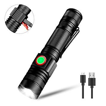 Linkax Torche Lampe De Poche Led Usb Rechargeable Ultra Puissante