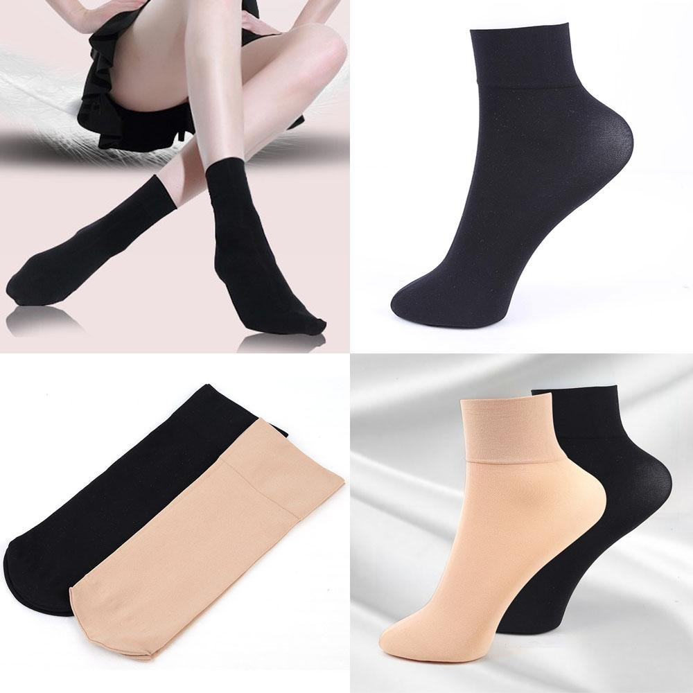 Boutiages 5//10Pairs Hot Nylon Wide Mouth Short Stockings Ankle Socks Thick Silk Low Cut