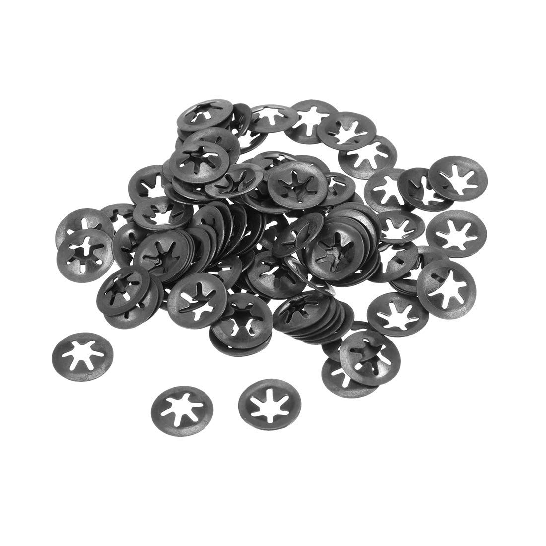 M4 Starlock Washer 3.5mm I.D 12 mm Outer Diameter Internal Tooth Lock washers Pressure Lock Speed Clip 65Mn Black Oxide Finish 100 Pieces