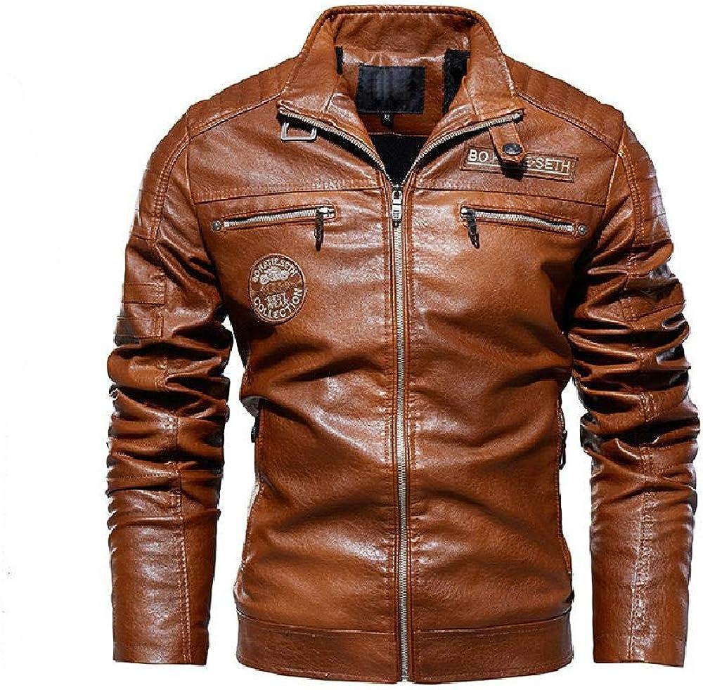 Chaquetas de cuero para hombre, chaquetas para hombre, trajes de motocicleta europeos y americanos, para hombre de piel de terciopelo