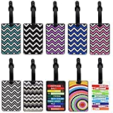 MerryNine Luggage Tags, Cool Luggage Tags, Bright