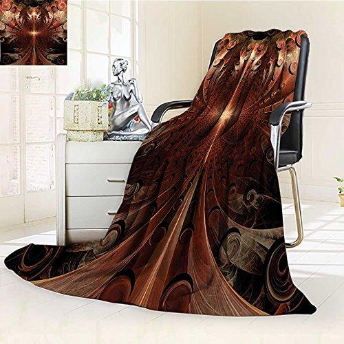 AmaPark Digital Printing Blanket Metallic Heraldic Ornate Background