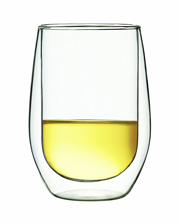 Set of 2 DW06//02 Luigi Bormioli DUOS 6-Ounce White Wine