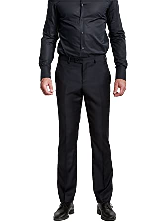 Amazon Hbdesign Mens Formal Dress Slim Fit Flat Straight Iron