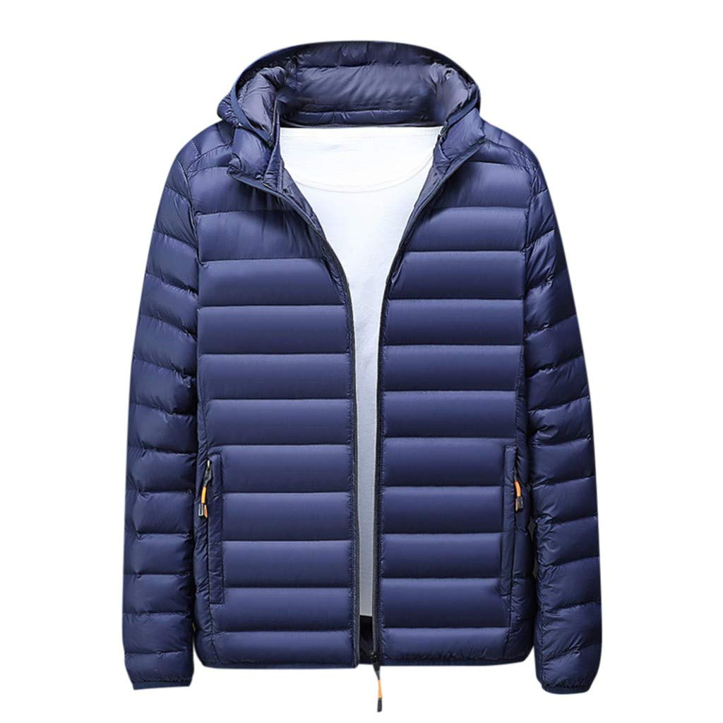 Men Down Jacket Winter Lightweight Water-Resistant Packable Puffer Coat Outdoor for Snow Ski Camping Hiking Traveling by VEZARON