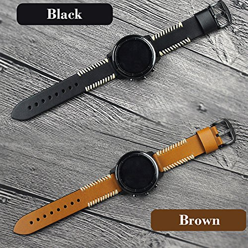 YOOSIDE for Garmin Fenix 5/Forerunner 935 Watch Band,22mm Genuine Leather Replacement Watch Strap for Fenix 5/5 Plus/Forerunner 935,Fit Wrist 5.9''-7.9''(NOT for Fenix 5X/5S) by YOOSIDE (Image #8)
