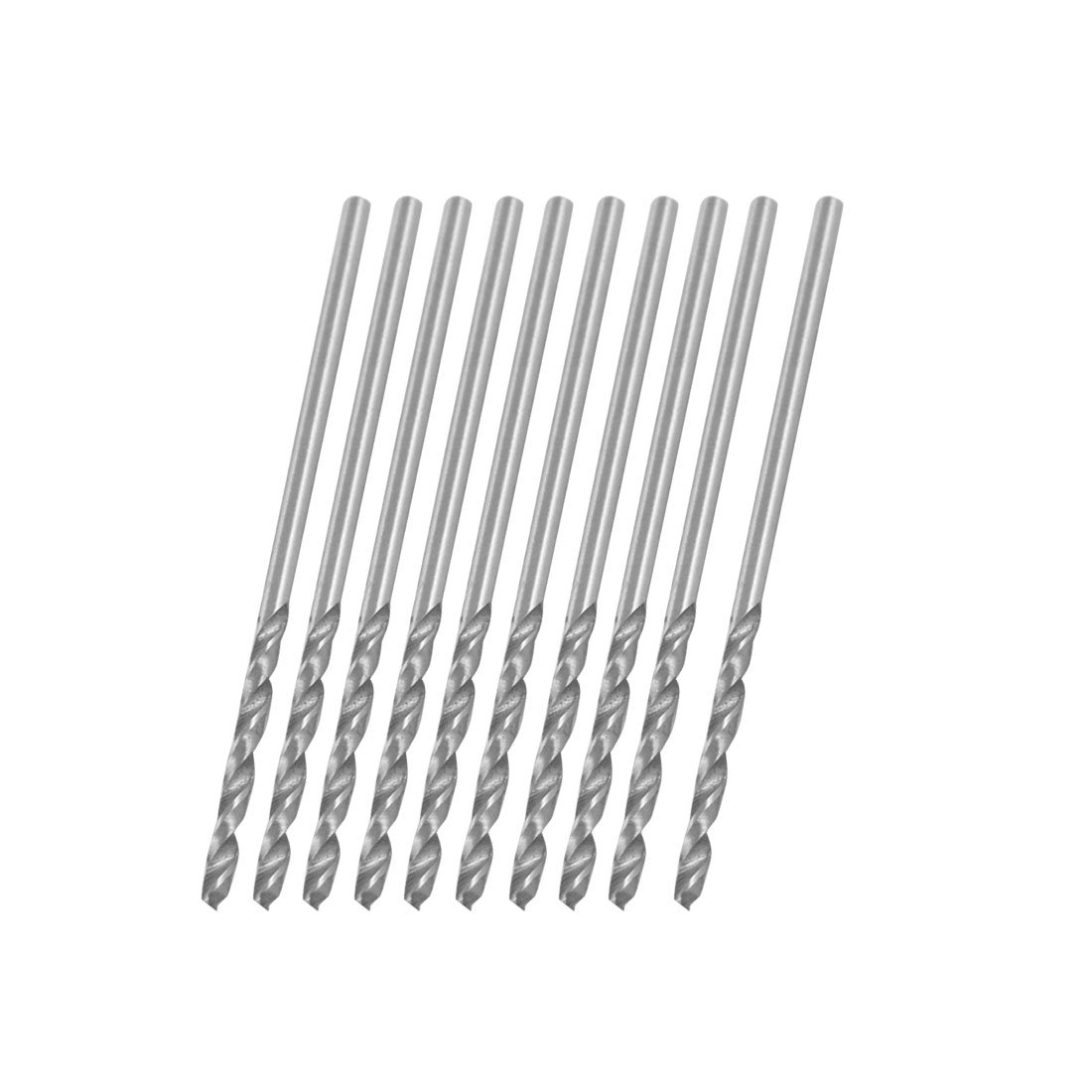 10 Pcs 1.25mm Straight Shank Spiral Twist Drill Bit Sourcingmap a12030500ux0846