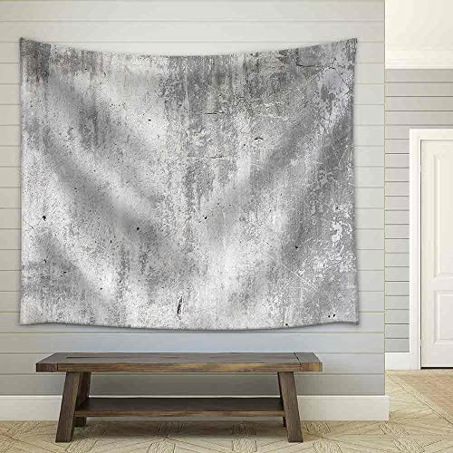 Grunge White Background Cement Old Texture Wall Fabric Wall
