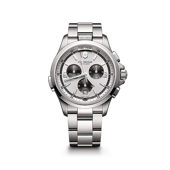 Victorinox Swiss Army Reloj Unisex de Analogico con Correa en Chapado en Acero Inoxidable 241728: Amazon.es: Relojes