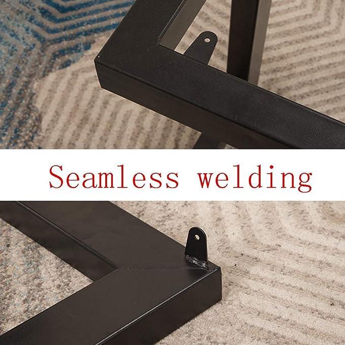 Gambe da tavolo in ferro metallo tubo sottile 25mmx50mm