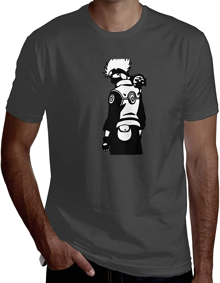 HaiguangZ Geek Naruto Logo T Shirts for Men White