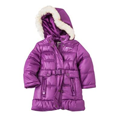 Amazon.com: Osh Kosh Toddler Girls Purple Coat Winter Puffer ...