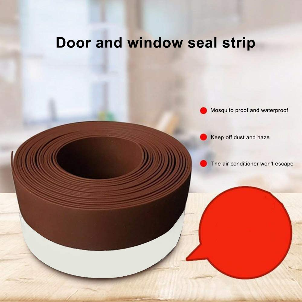 35mm 45mm Galapara Weather Stripping Silicone Door Window Bottom Seal Strip Coldproof Soundproof Windproof Insect Clearance Tape Entrance Door Insulation Adhesive Tape 25mm