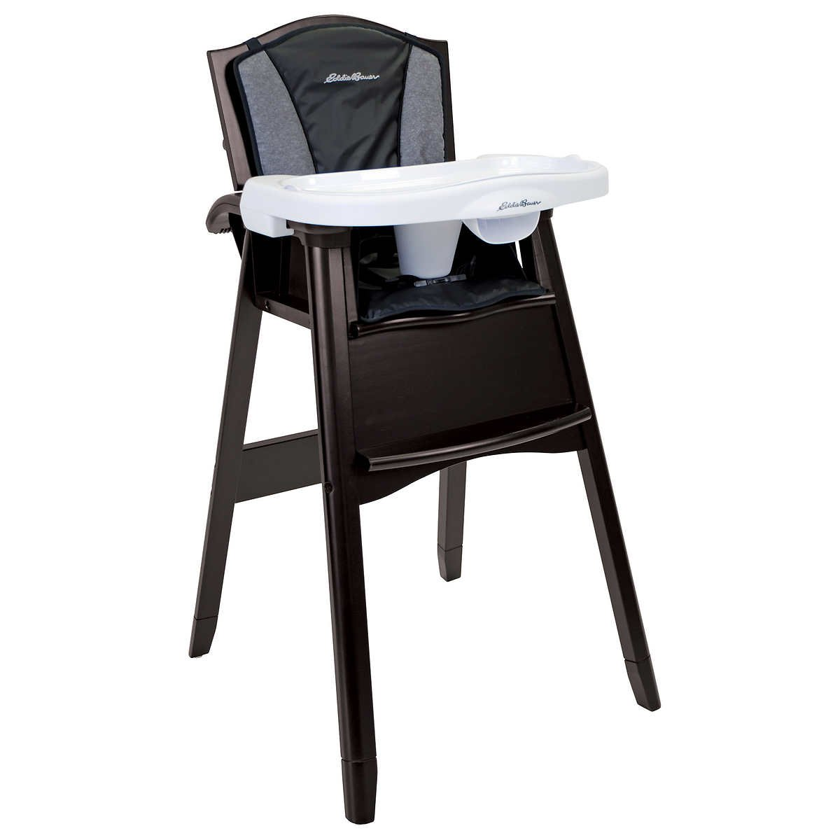 Eddie Bauer Classic Wood High Chair Blue Bay