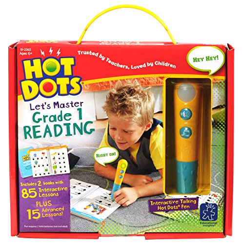 Educational Insights Hot Dots Let's Master Grade 1 Reading with Talking Pen
