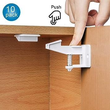 Baby Child Safety Cupboard Locks Kid Child Proof Cabinet Door Fridge Latches 10×