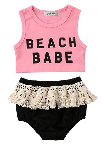 Amazon.com: stylesilove Infant bebé niña rosa playa bebé ...
