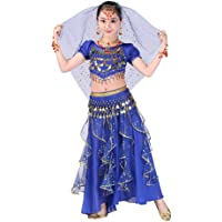 YWLINK Danza del Vientre, NiñAs India Danza del Vientre Danza Egipcia Traje De Rendimiento Conjunto De 2 Piezas Traje De…
