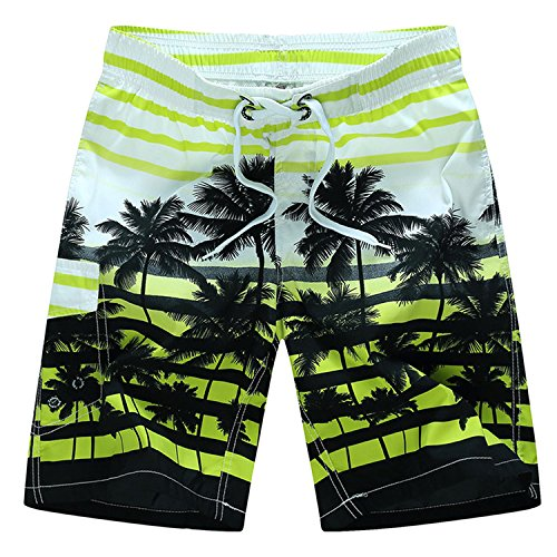 Tailor Pal Love Swim Trunks for Boys Volley Swim Strip Short Comfort Boardshort Swimwear with Coconut Tree Print Green 5X Large by Tailor Pal Love (Image #2)