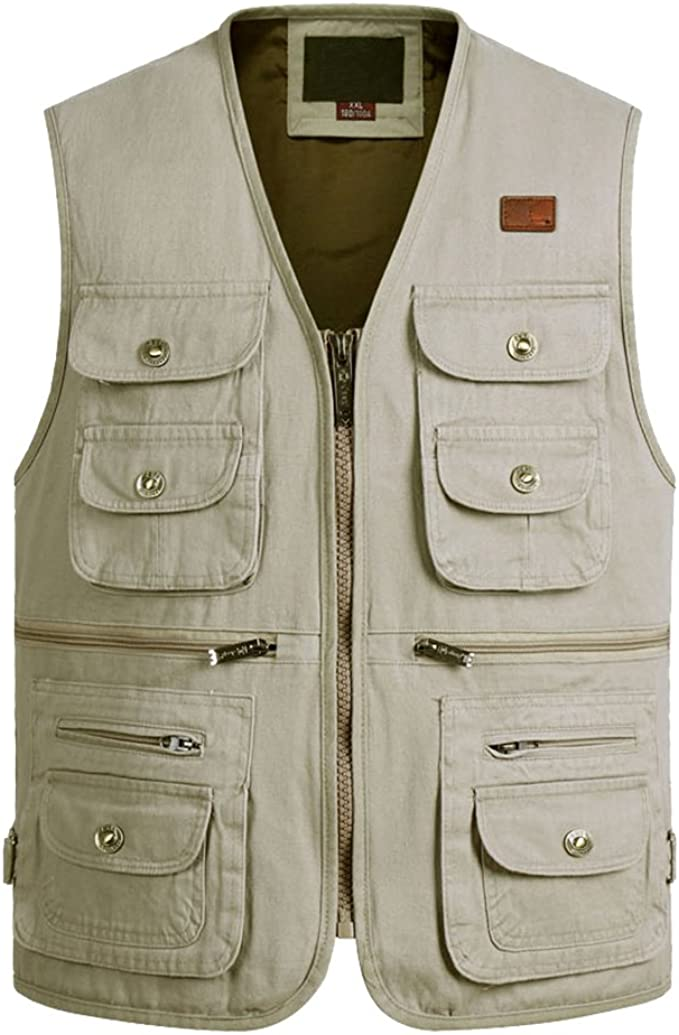 Feicuan Homme Casual Outdoor Utility Multipoches