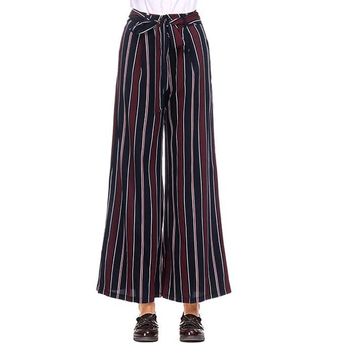 comprare popolare d7d9f d6367 Pantaloni Larghi alla Caviglia Dritti a Vita Alta con ...